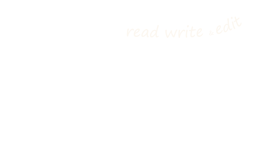 read write and edit banner three
