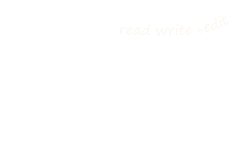 read write and edit small banner